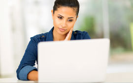 A women using a laptop